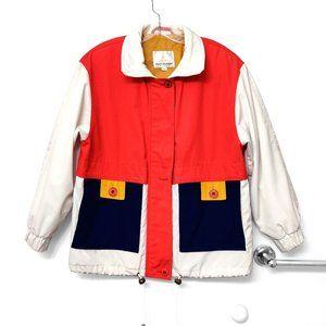 Vintage Misty Harbor Colorblock Zip Up Jacket Coat